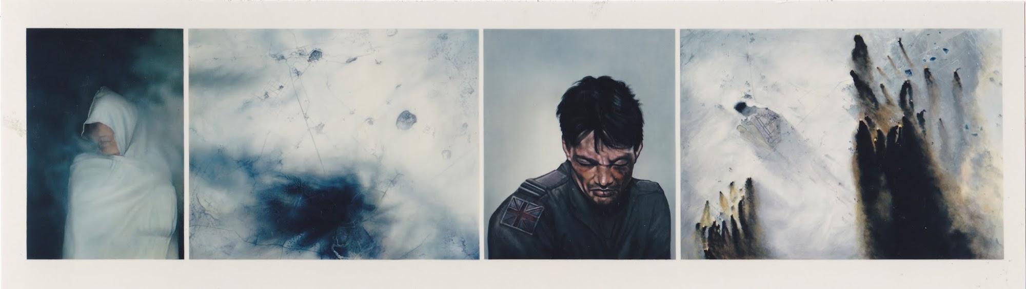 Nebelungen   1993   Aquarell   40 x 168 cm