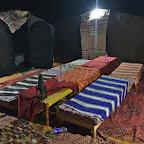 The night in berber camp among Saharan dunes
