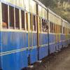 Kalka Shimla toy train passing through Shoghi