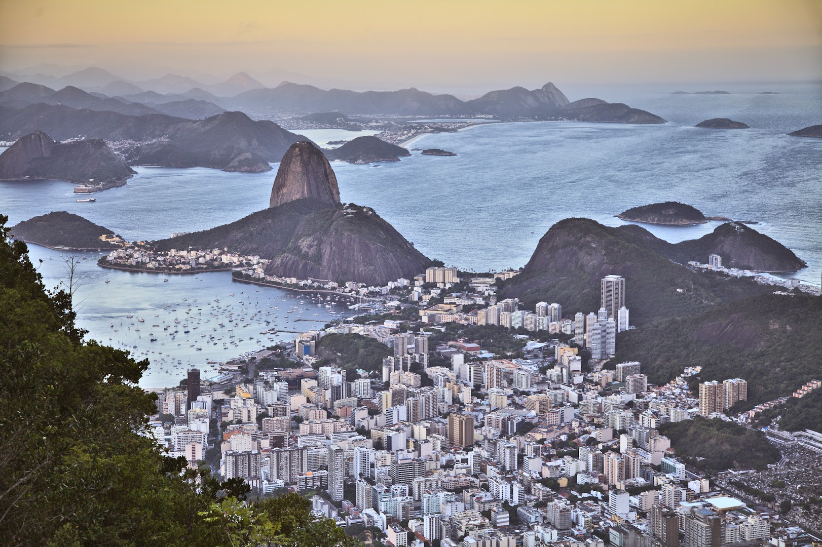 The view from Cristo faces every day - from Corcovado mountain