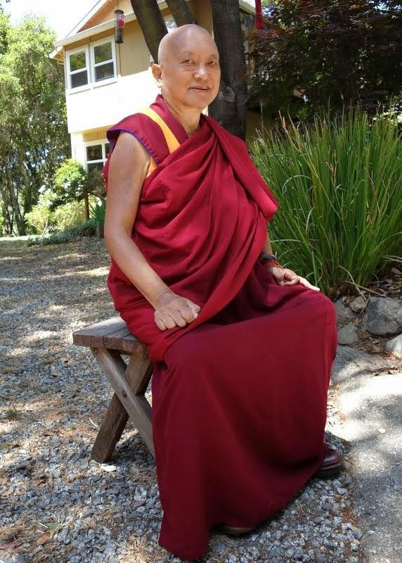 Lama Zopa Rinopche at Kachoe Dechen Ling, Aptos, California, June 2014. Photo by Ven. Roger Kunsang.