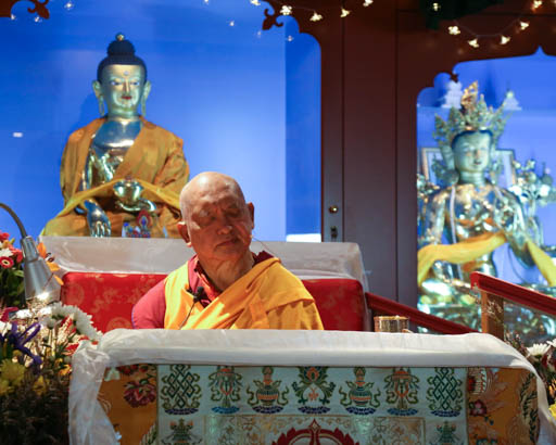 Lama Zopa Rinpoche at Vajrayana Institute, Sydney, Australia, June 2015.