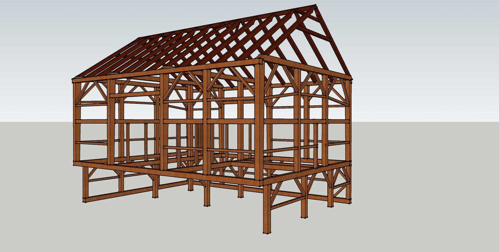 Early English barn converted to a bank barn.