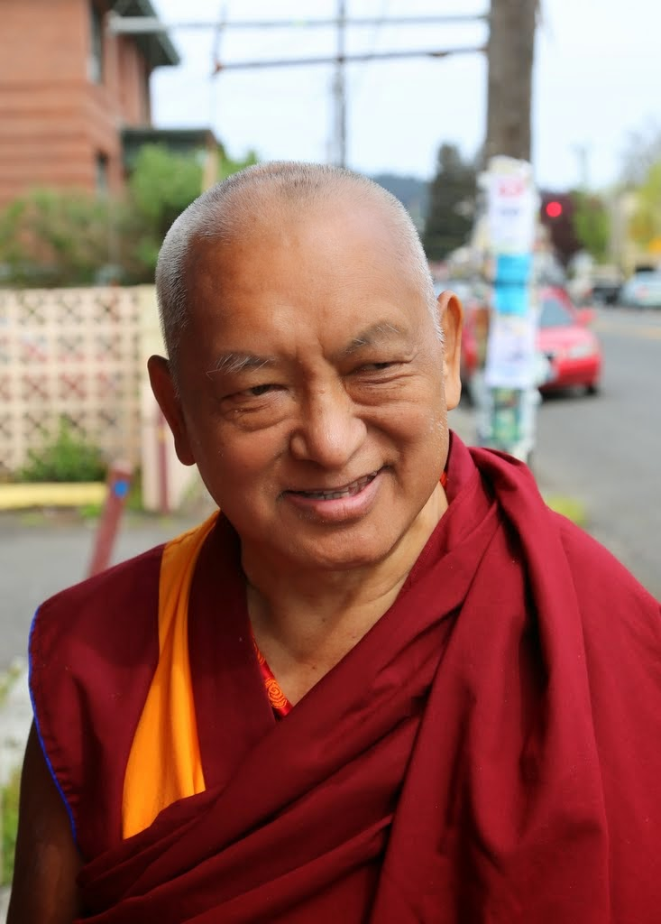 Lama Zopa Rinpoche in Portland, Oregon, US, April 2014. Photo by Ven. Thubten Kunsang.
