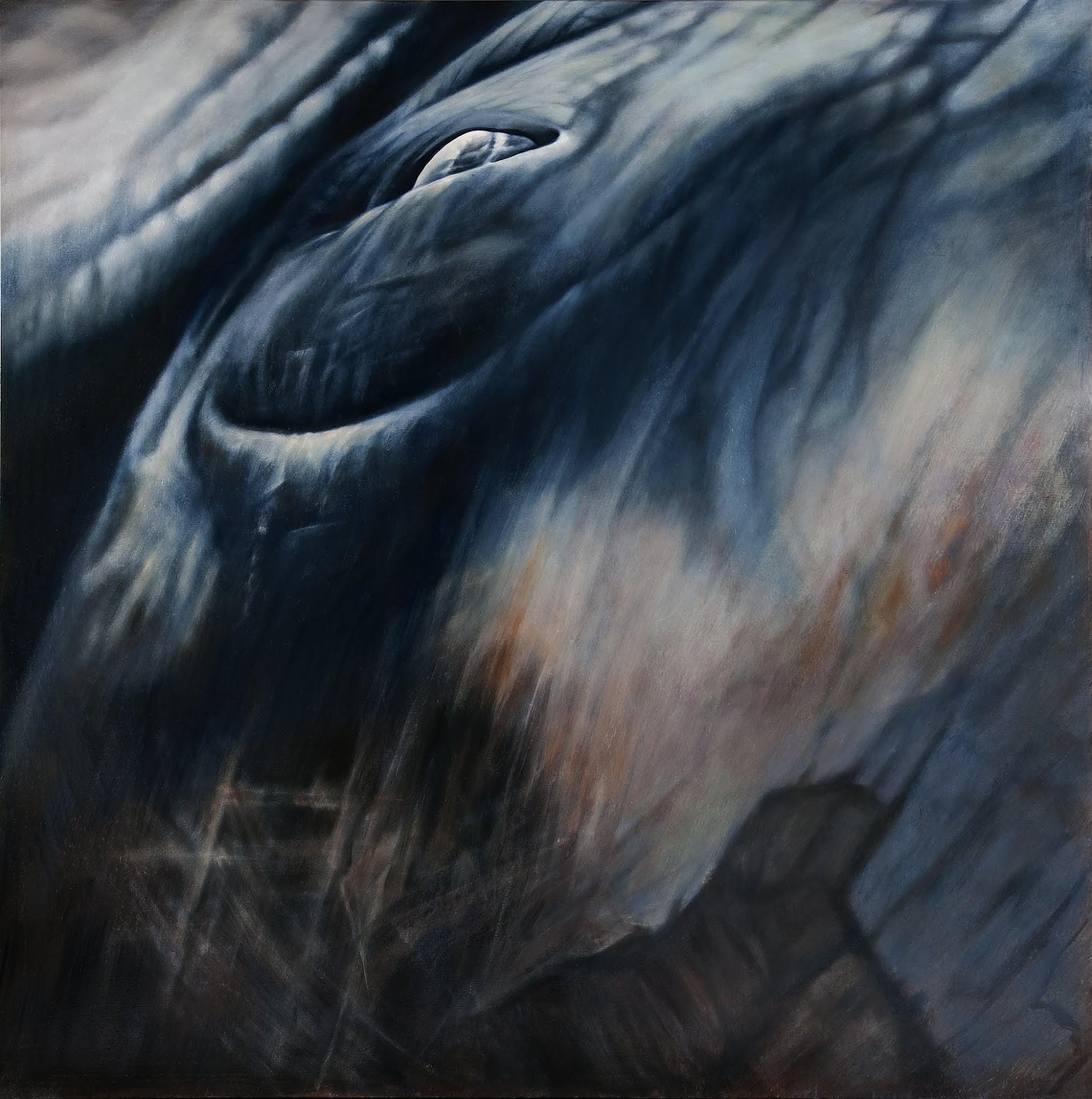 In der Zeit   2009   Oel auf Leinwand   170 x 170 cm