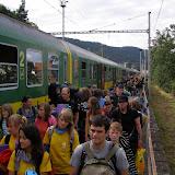 Po 7 hodinách jízdy na nádraží v Blansku.