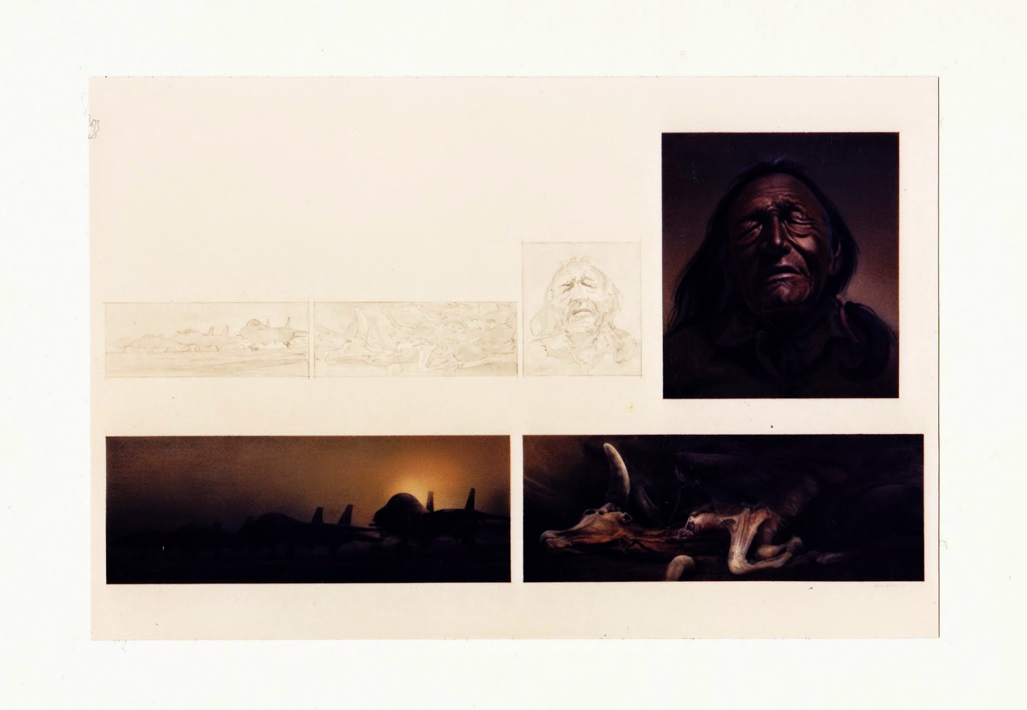 Warten auf Stille   1988   Aquarell / Entwurf   53 x 80 cm