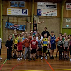 Basketbal Clinic van Aris