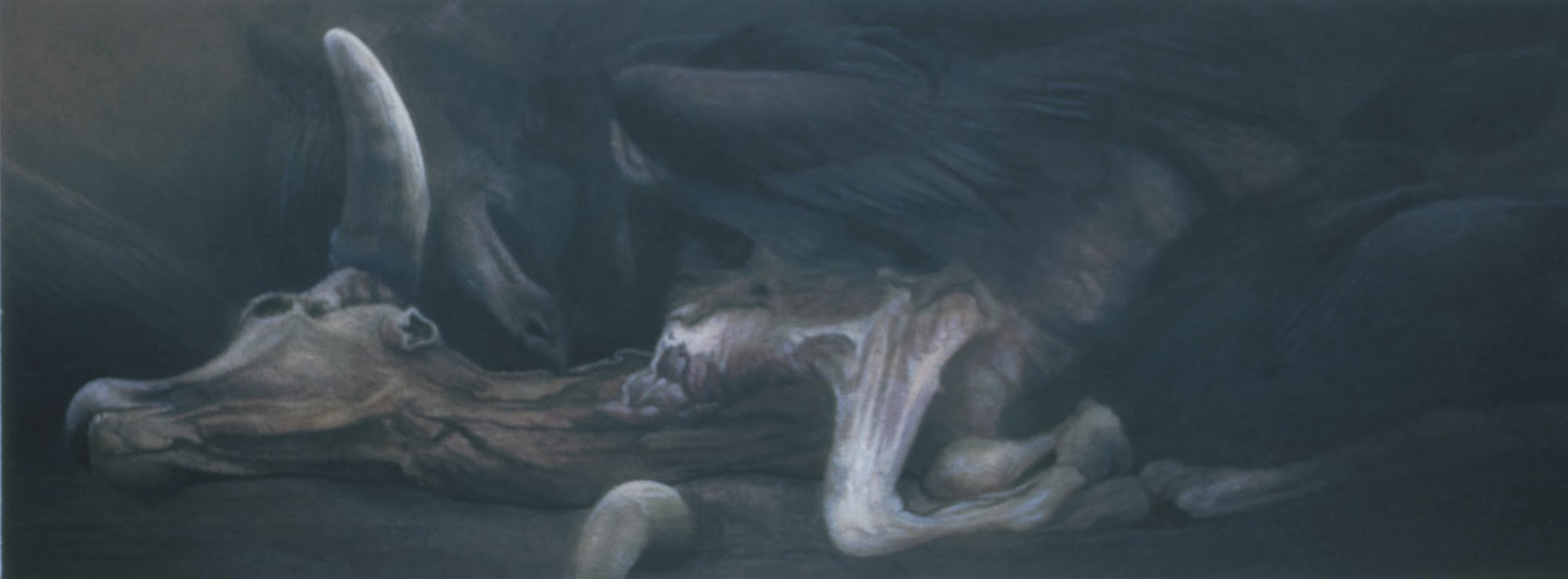 Warten auf Stille   1988   Aquarell   Detail