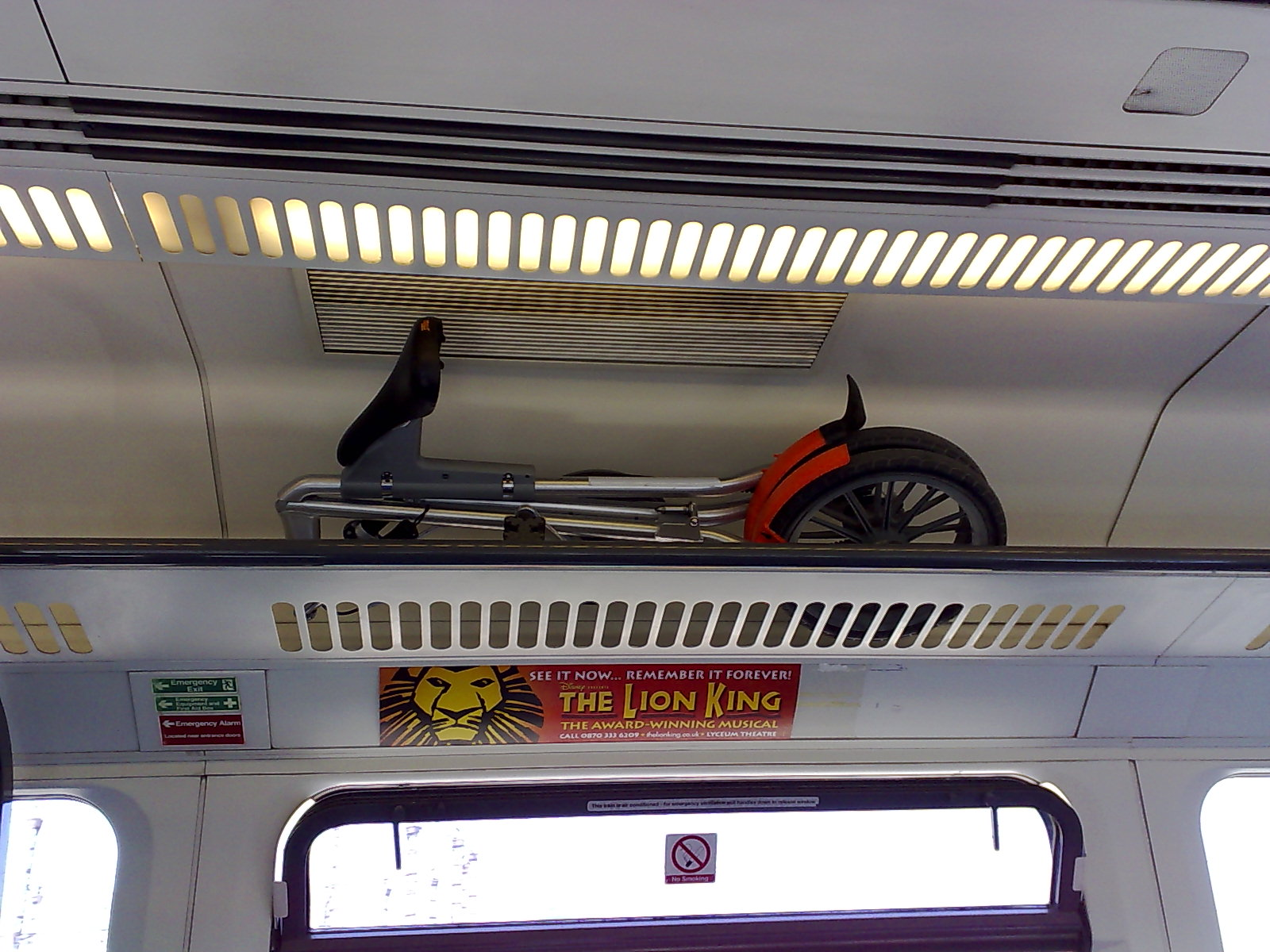 On Train - in overhead luggage space
