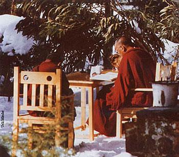 Lama and Rinpoche in Dharamsala, India  circa 1982