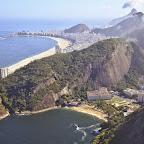 View to Rio's beaches, Copacabana on the left