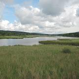 Dolejší padrťský rybník - na loukách za ním stávalo několik po roce 1952 zaniklých vesnic - Padrť, Horní a Dolní Zaběhlá a další
