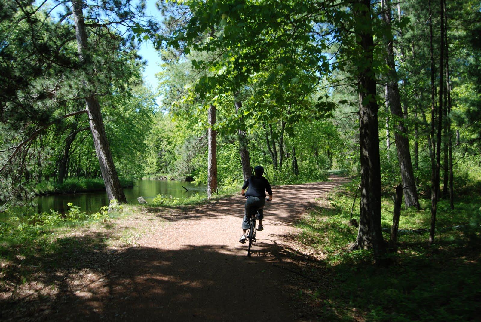 Biking the Plover River Trail. Photo by Jim Buchholz