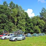 Naše první tábořiště na Majdaleně