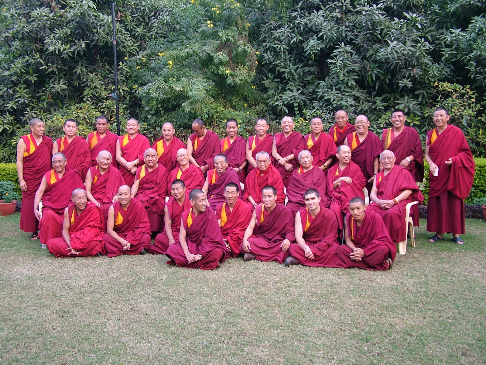 Offerings of robes are sponsored every year to FPMT resident teachers and Geshe