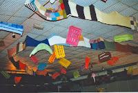 Ambiance 12 Décoration La plus longue chaussette du monde ( 194 m )  tricotée à Méral 1ère Nuit 1995 Cossé