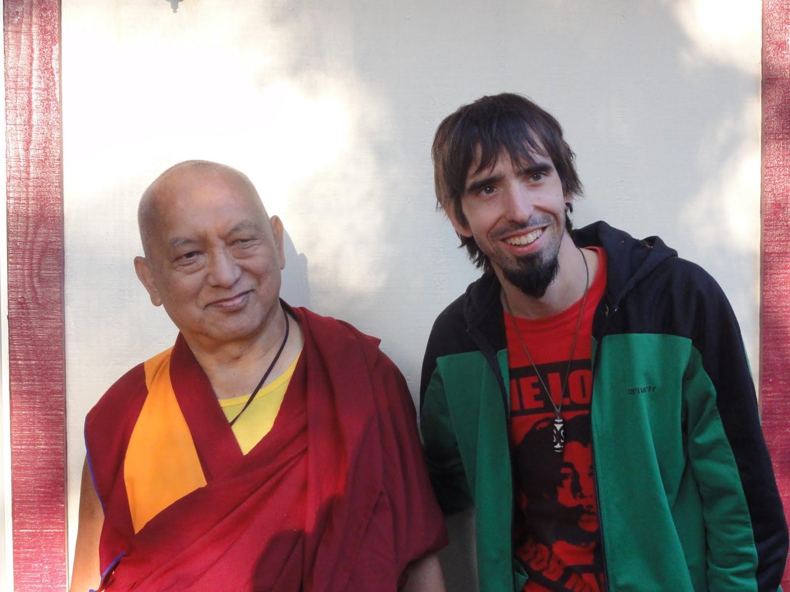 Lama Zopa Rinpoche and Tenzin Osel Hita.
