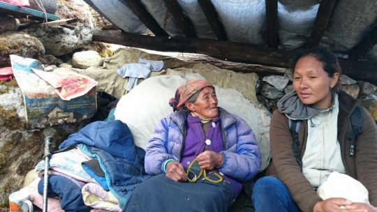 Villagers are doing their best to survive under extremely difficult circumstances, May 2015. Photo by Charok Lama.