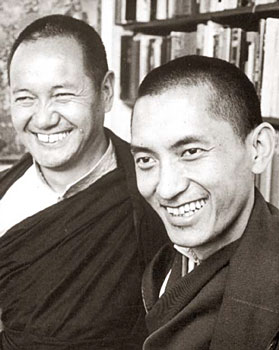 Lama and Rinpoche in Auckland, New Zealand  circa 1975