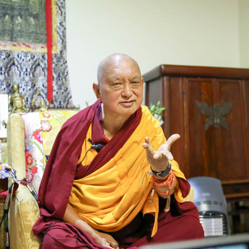 Lama Zopa Rinpoche teaching on lojong, Auckland, New Zealand, May 2015. Photo by Ven. Thubten Kunsang.