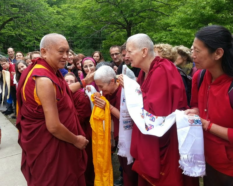 Lama Zopa Rinpoche departing from the retreat, Black Mountain, North Carolina, US, May 18, 2014