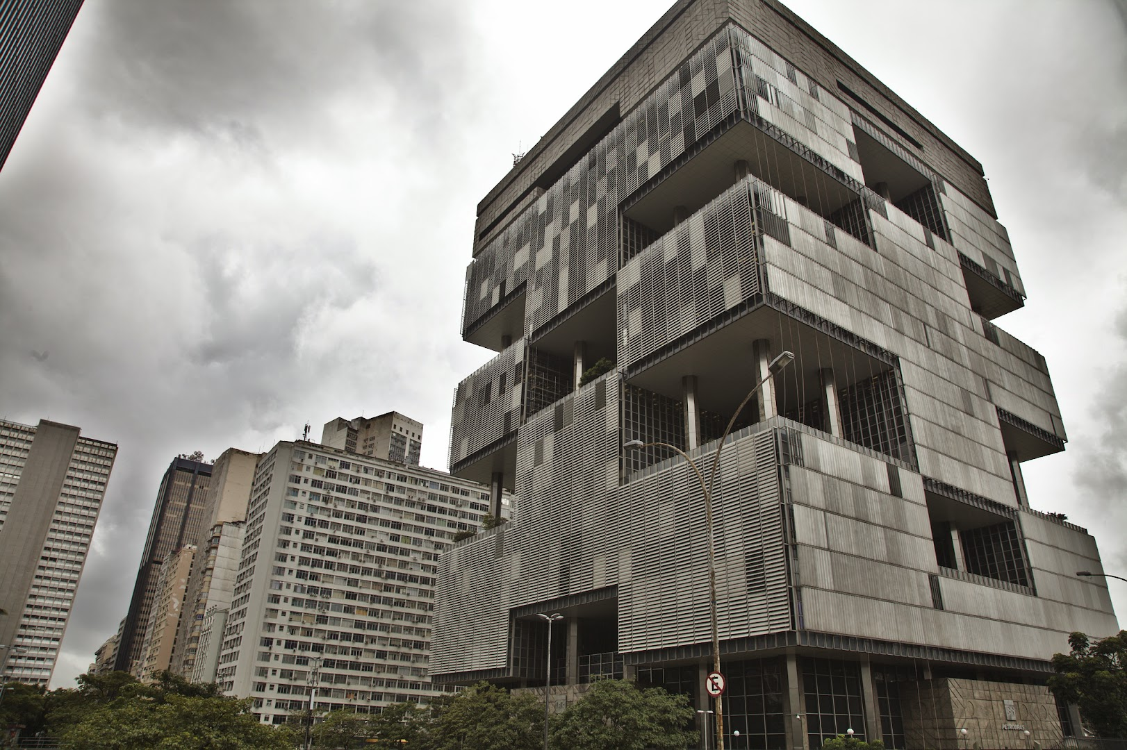 Petrobras headquarters are in this funny building