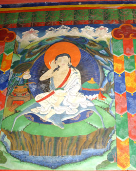Milarepa Wall Painting