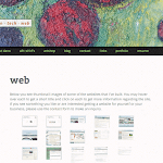 New WordPress responsive child-theme - web portfolio page.