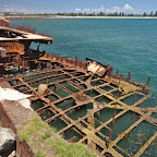 Some of the wrecks were used to build a wharf