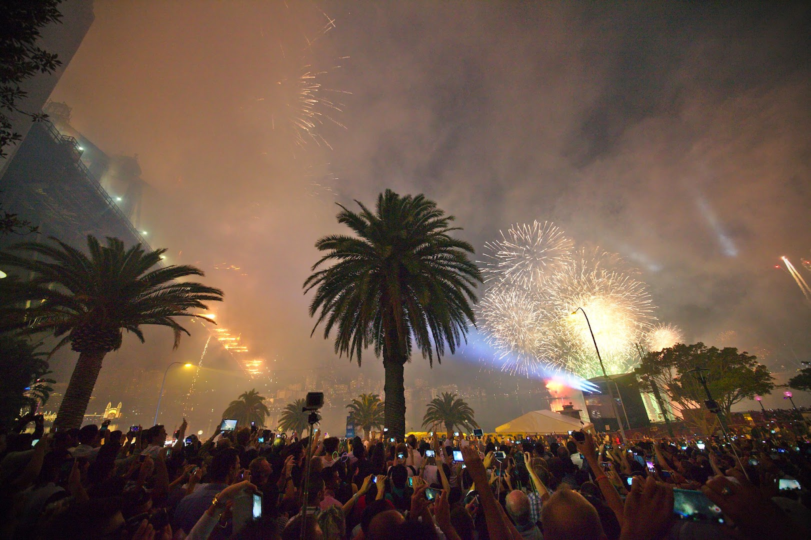 The real NYE fireworks up-close are much more awesome!