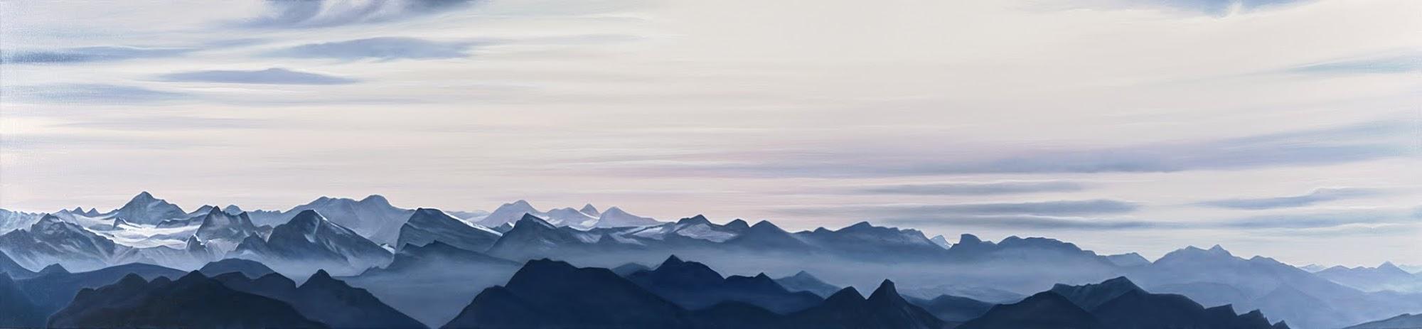 Alpenpanorama   2011   Oel auf Leinwand    65 x 270 cm