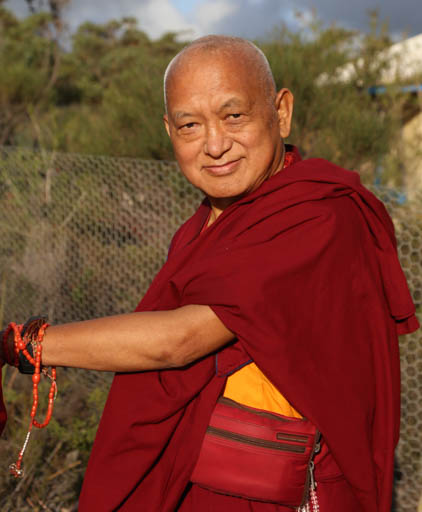 Lama Zopa Rinpoche, De-Tong Ling Retreat Centre, Kangaroo Island, Australia, May 2015. Photo by Ven. Thubten Kunsang.