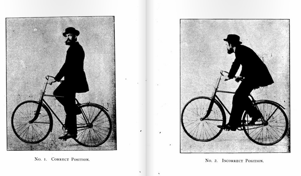 THE correct riding position !  - The bicycle  Korns - Chicago 1892
