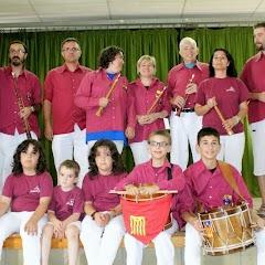 Audició Escola de Gralles i Tabals dels Castellers de Lleida a Alfés  22-06-14