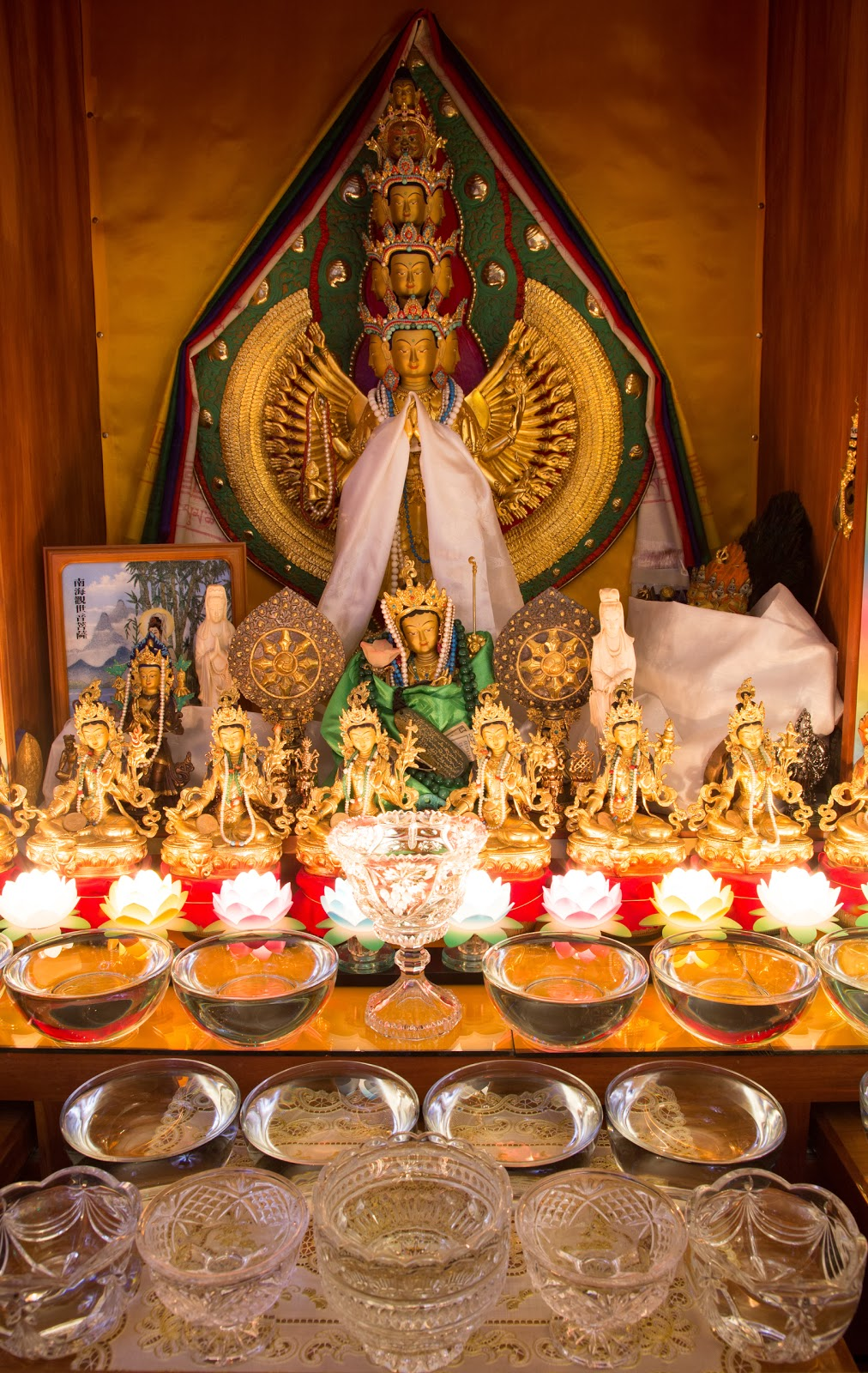 Chenrezig Altar. Photo by Ven. Thubten Kunsang.