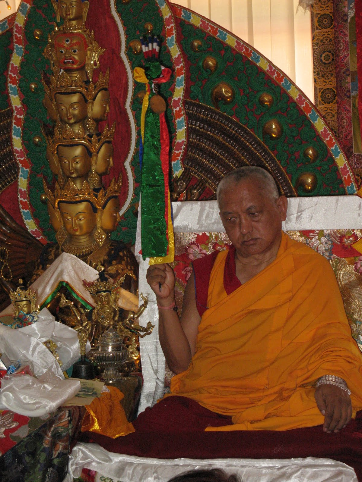 Special long life puja privately offered to Lama Zopa Rinpoche, Kopan Monastery, June 2009.