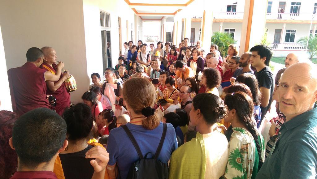 LamaZopaRinpocheafterfirstdayofJangchupLamrim,India,December23,2014.PhotobyVen.RogerKunsang.