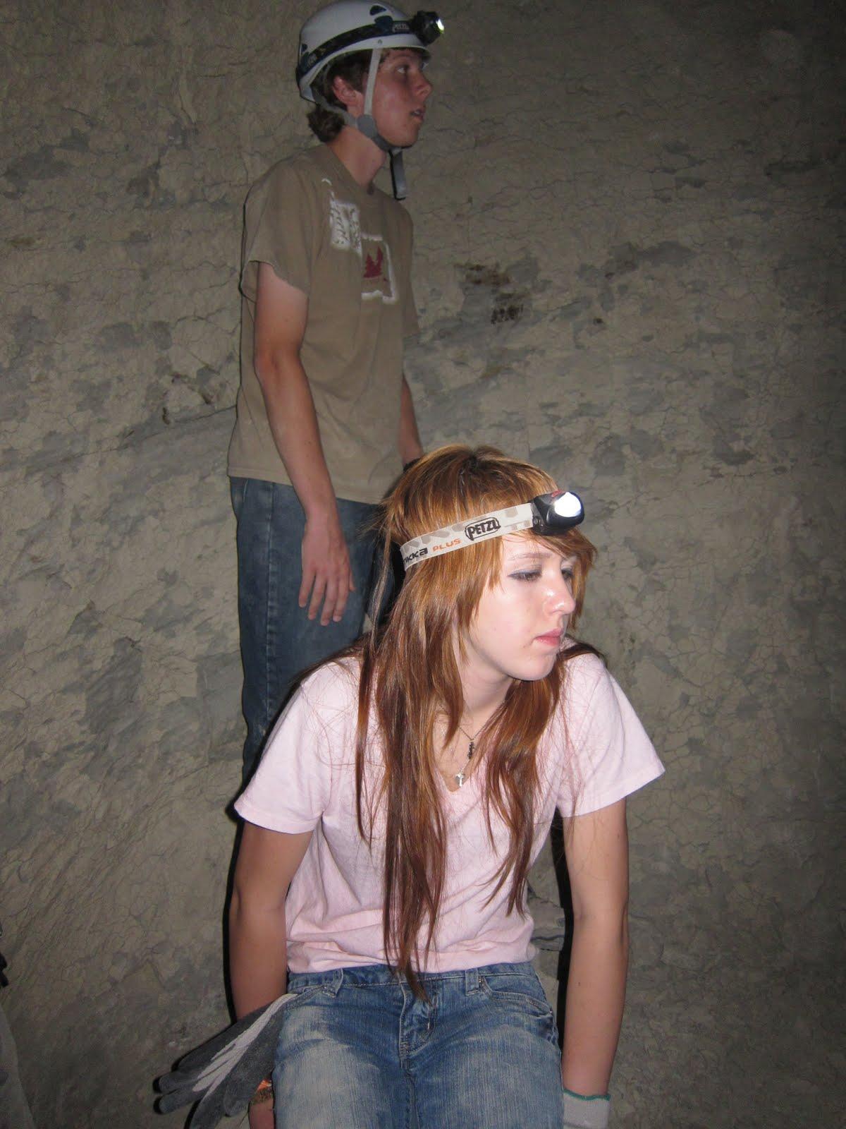 "Waiting their turn in ""Hidden Cave"""