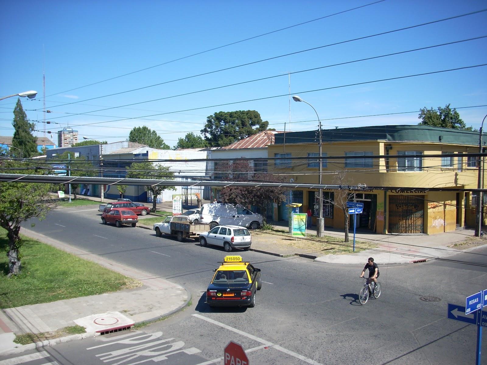 Random street view out my hotel window in Chillan