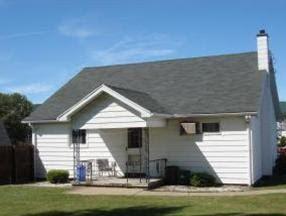 back of house & back porch