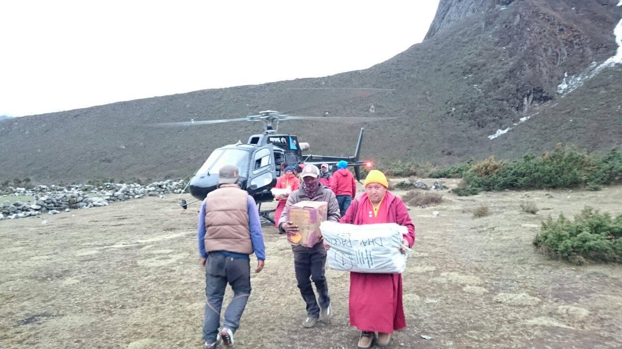 Aid reaching Solu Khumbu. Photo by Charok Lama.