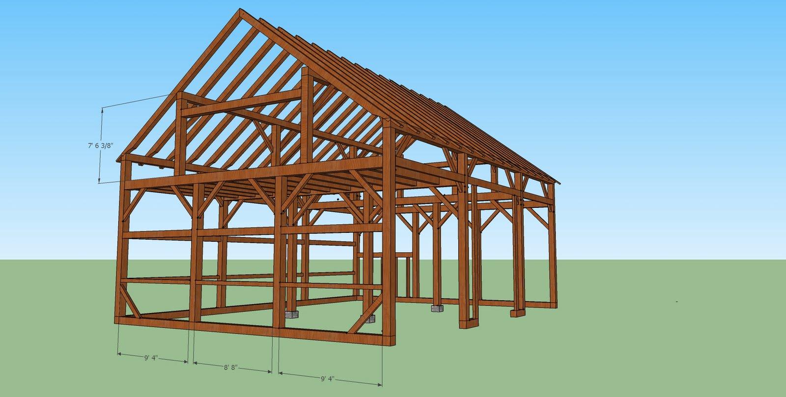 The new barn at High Ledge Farm.