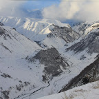 Chechnya is behind these mountains, Ossetia is to the west