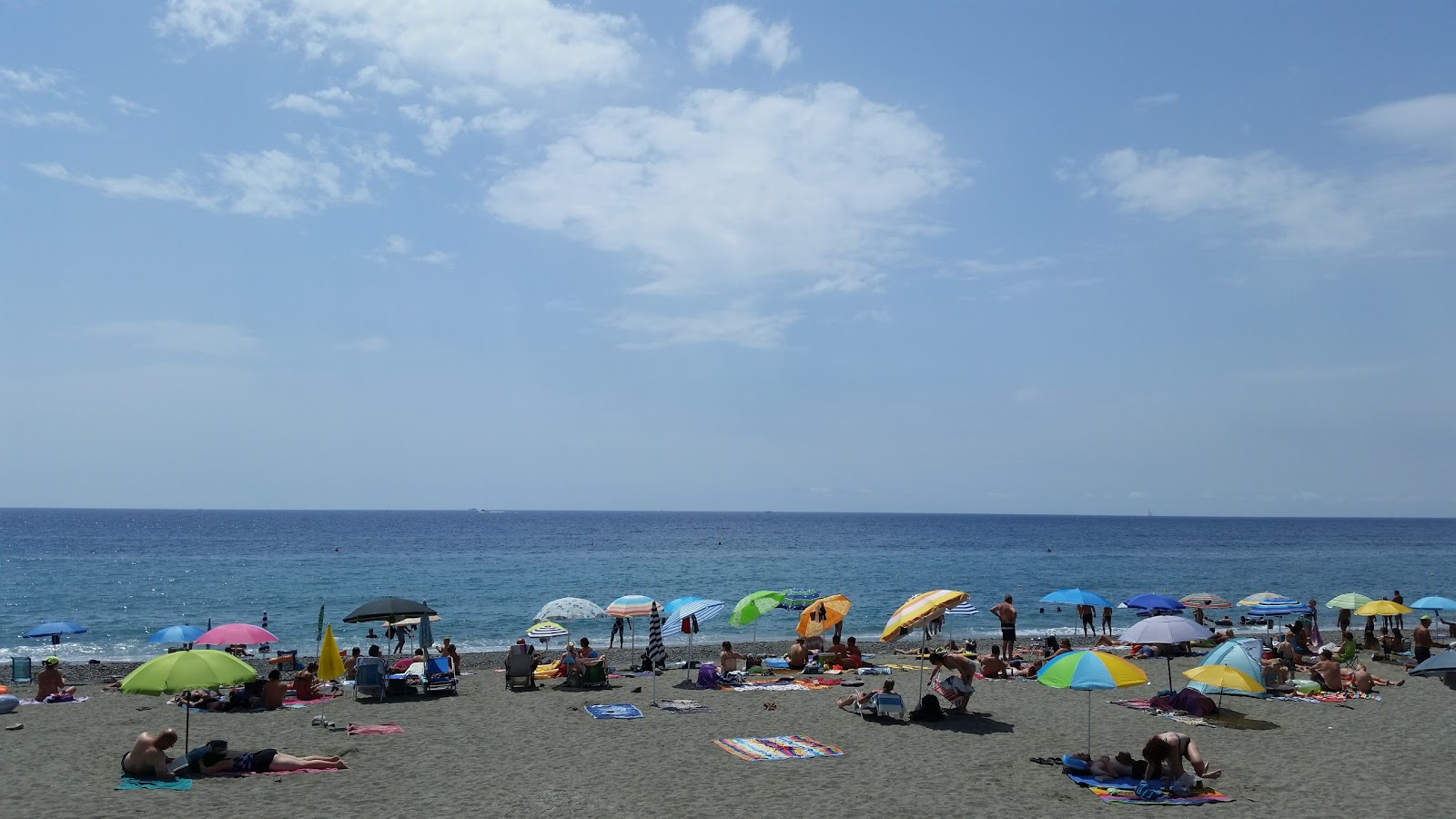 Relaxed Mediterranean beach