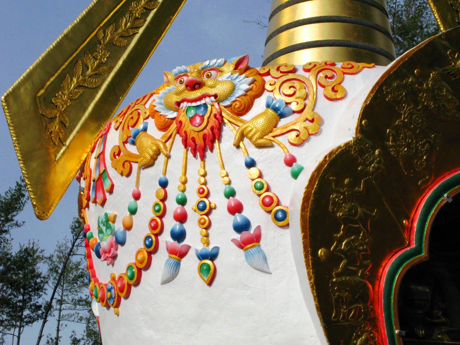 14 foot Stupa at Milarepa Center, Vermont, USA.
