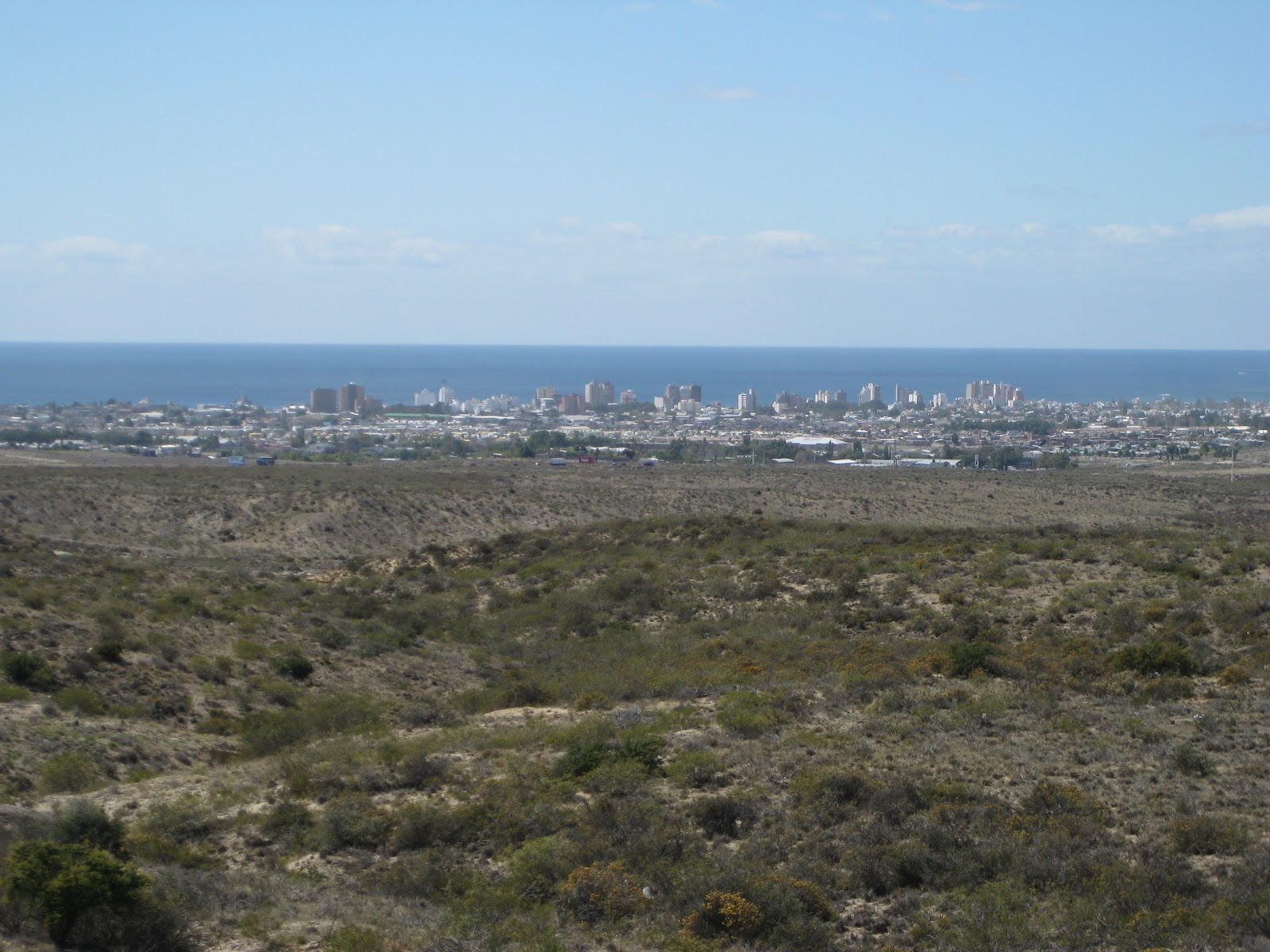 Looking down towards Puerto Madryn