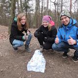 Hotová sněhová pyramida jednoho týmu