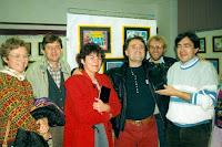 Vernissage Gulliver 01, Loïc, Régine, Jeannot, Gérard,Cossé 1992