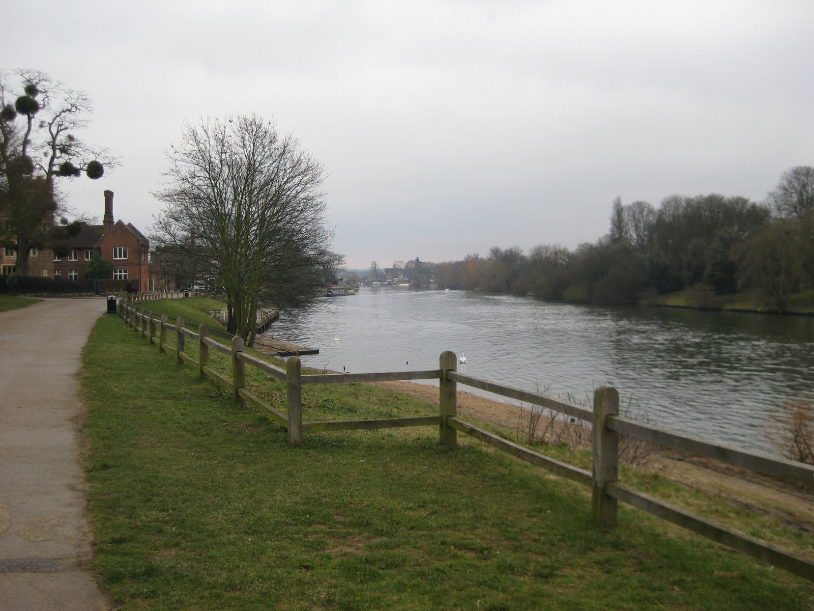 Alongside the Thames